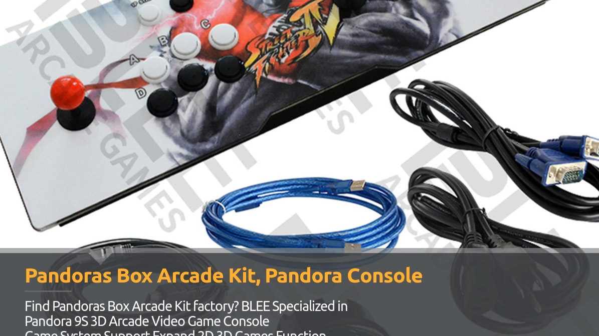 Pandora 9S 3D Arcade Video Game Console Game System Blee