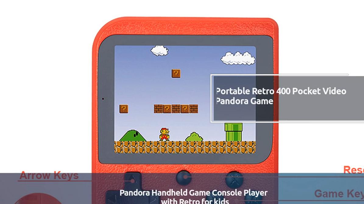 New Portable Retro 400 Pocket Video Pandora Handheld Game