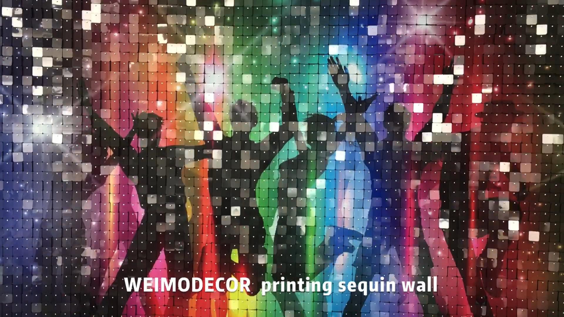 WEIMODECOR प्रिंटिंग सेक्विन वॉल