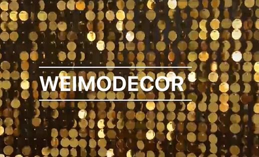 Labākais mirdzošā zelta mirdzuma sienas panelis 1 cm sērijas disku piegādātājs