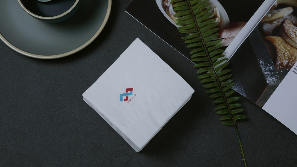 Cutomized Logo Printing Beverage Napkin