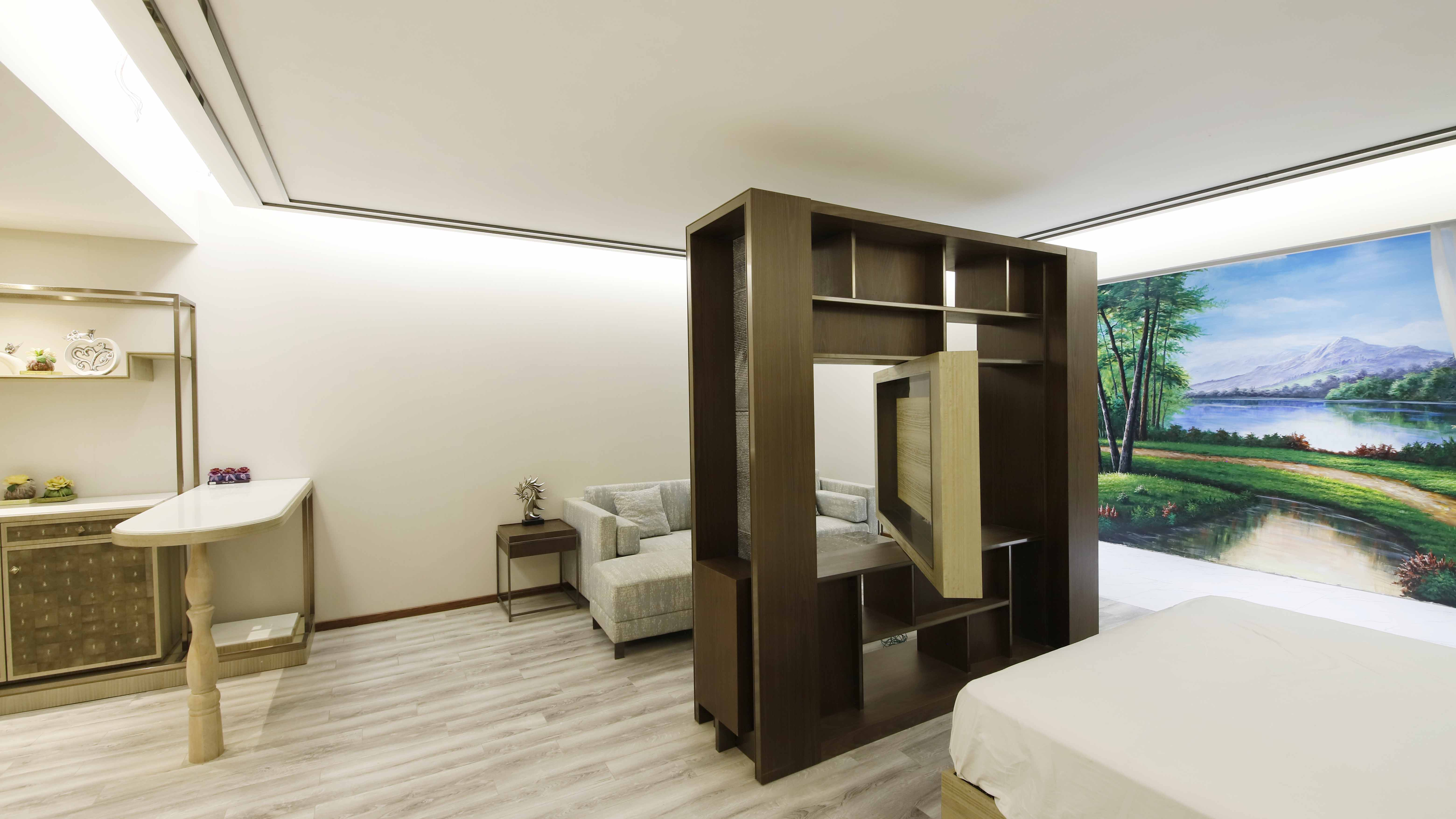 Suite furniture model room for hyatt hotel