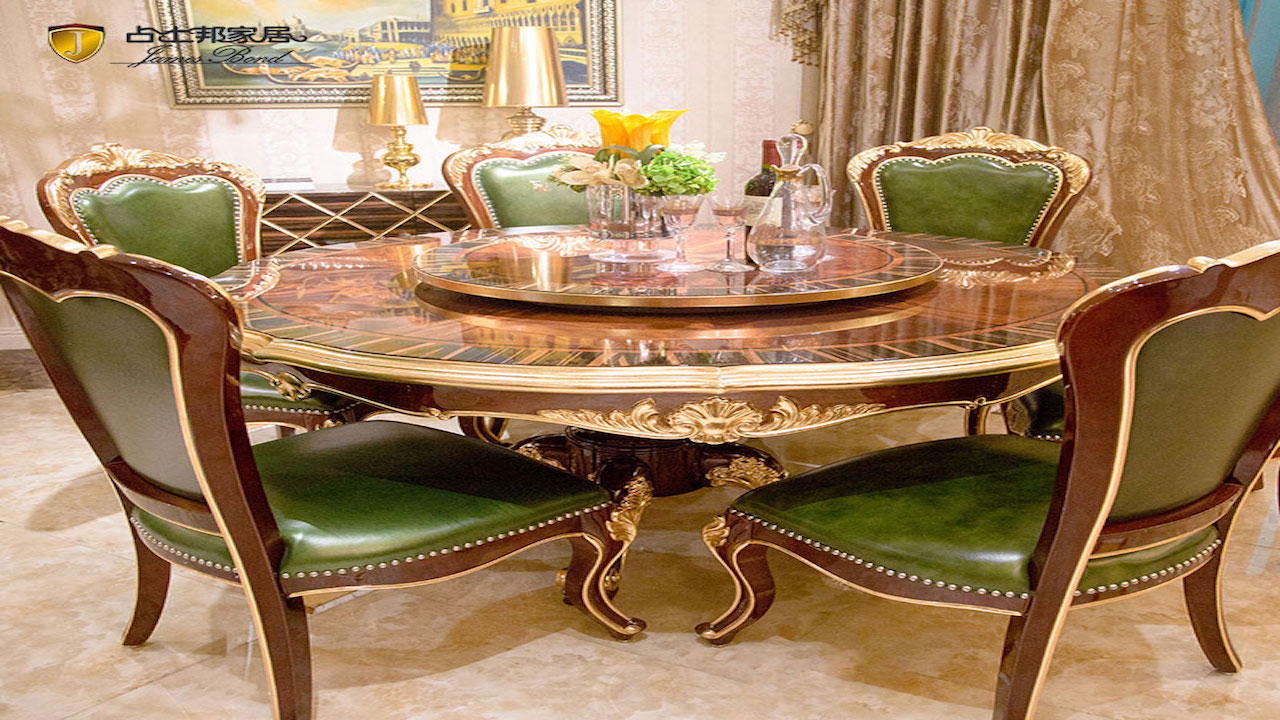 Classic round table new classic dining room furniture JP657