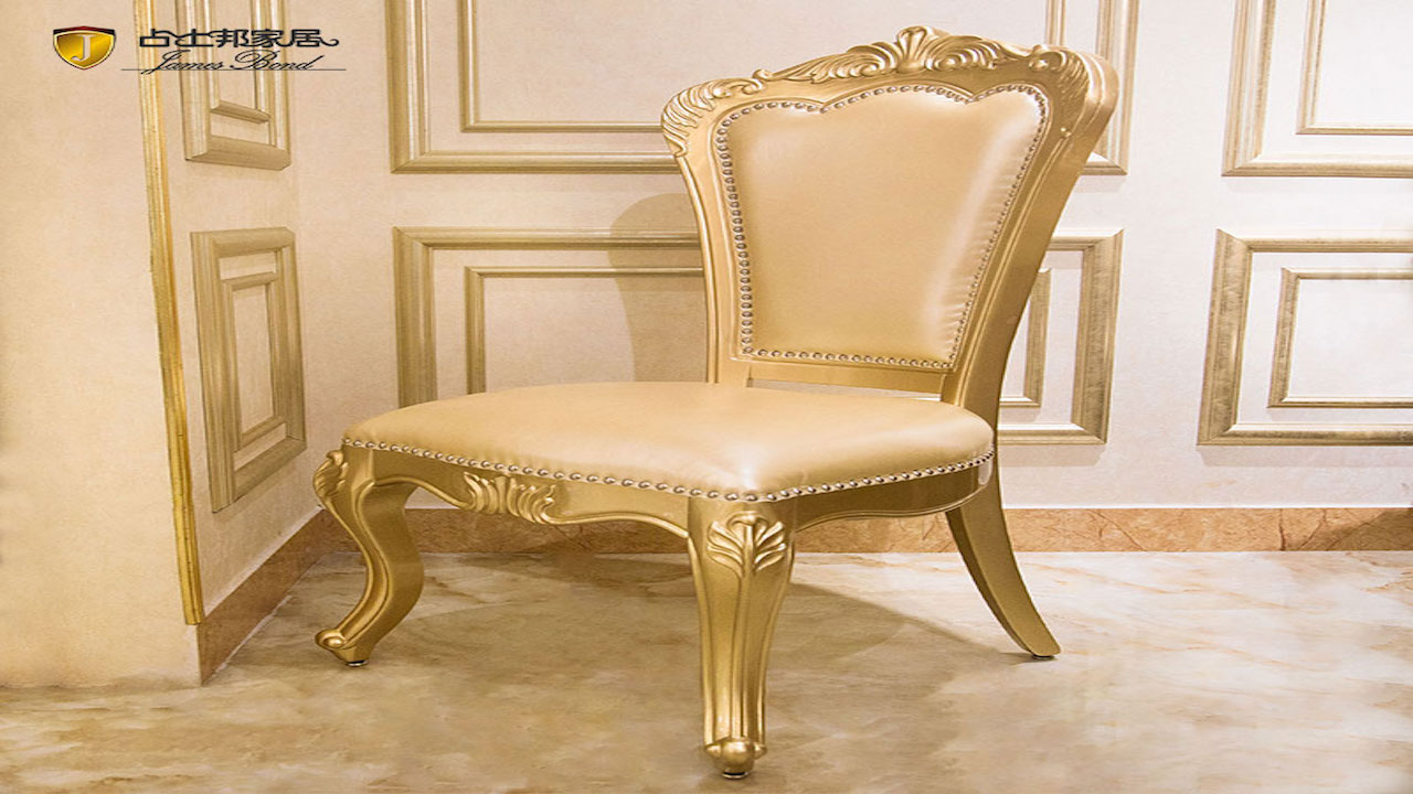 Classic traditional dining chairs design solid wood brown /white / white fabrics F119