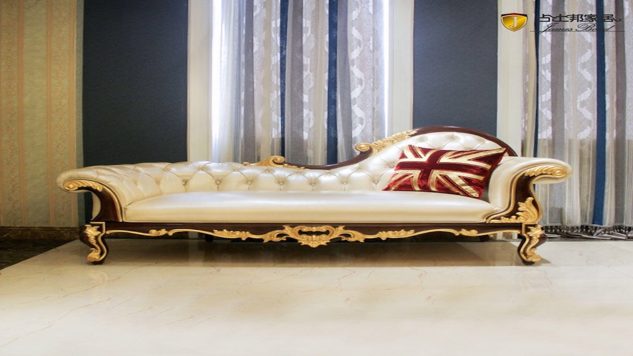 Classic antique chaise leather furniture