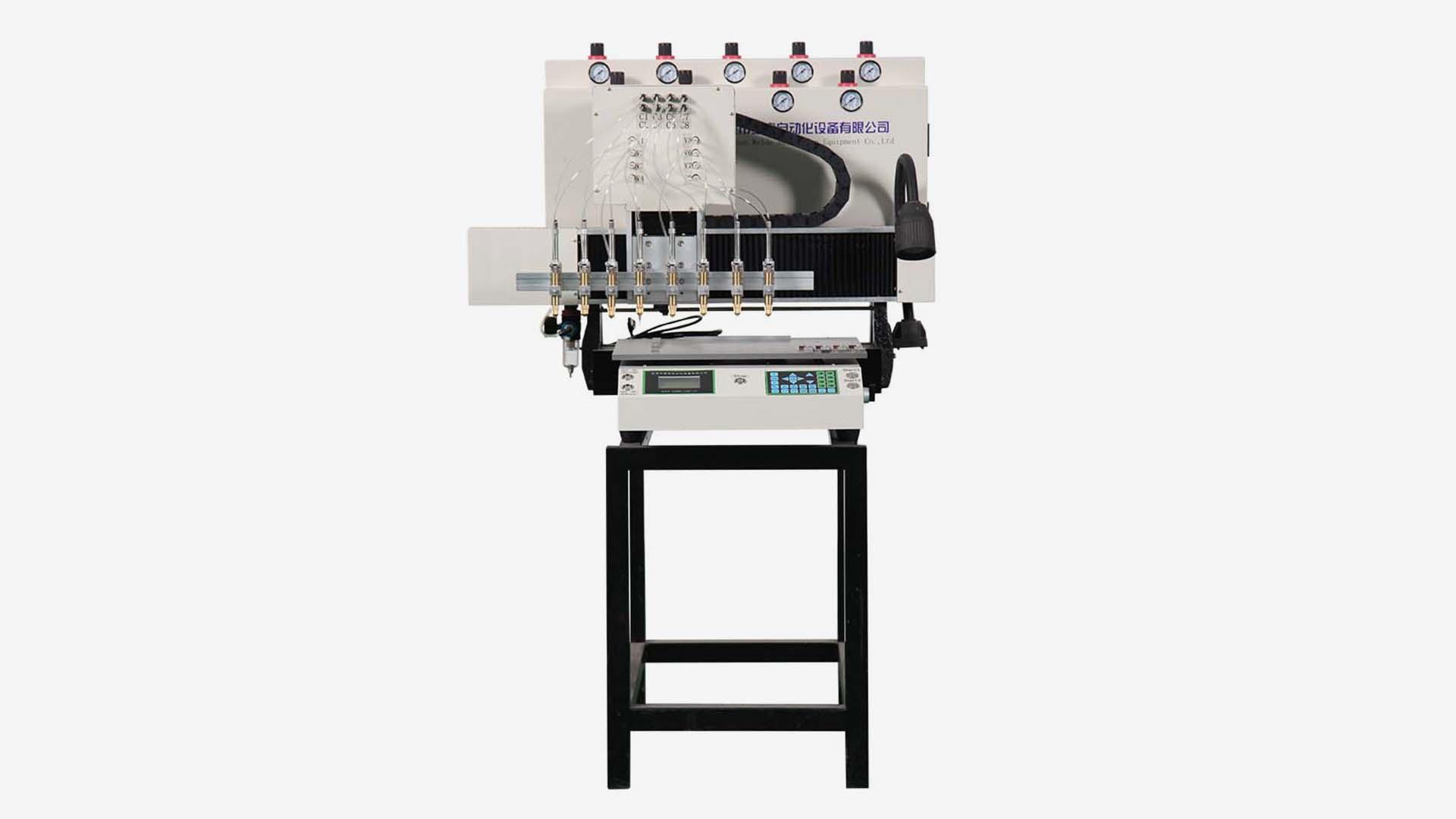 Weldo 5 colors PVC/Silicon label automatic dispenser machine