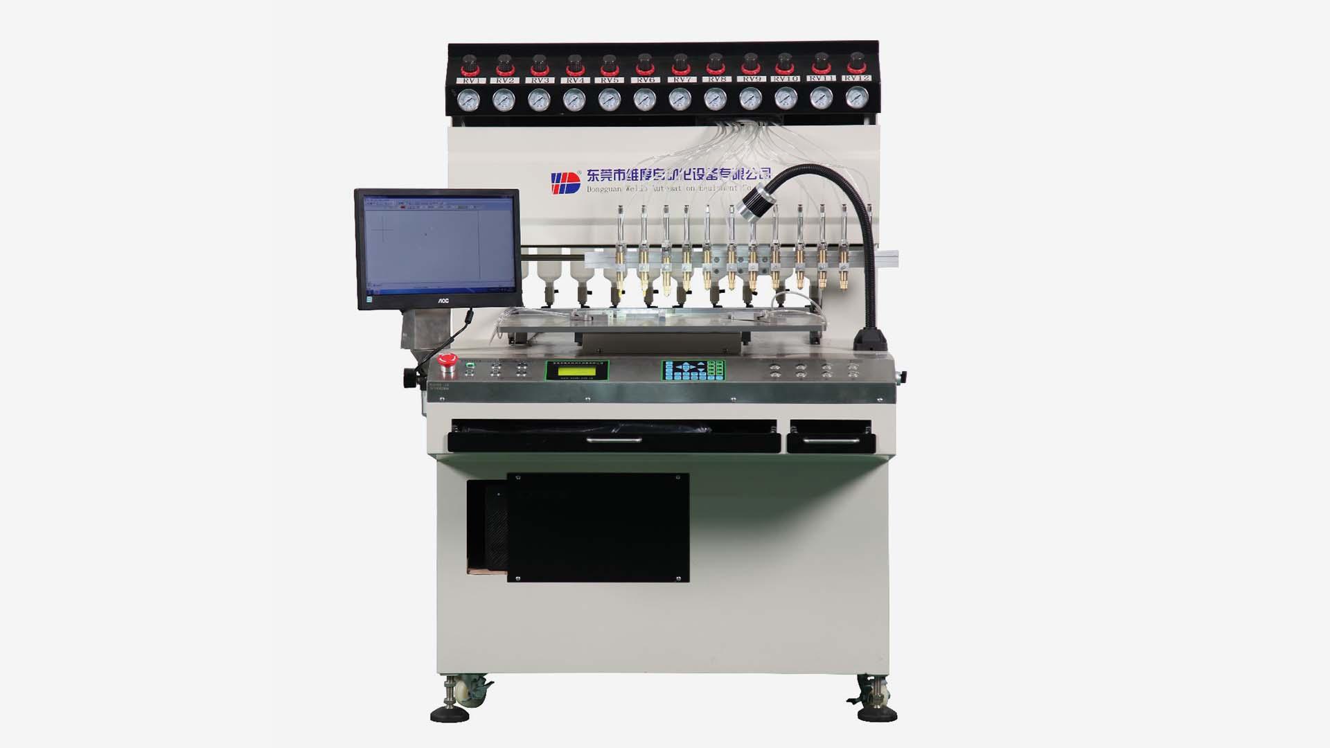 Weldo 12 colors PVC/Silicon label automatic dispenser machine
