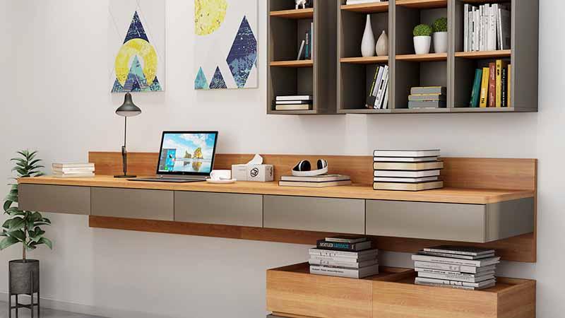 Заманбап минималисттик стол шкафынын шкафы интегралдык жазуу столунун столундагы Nordic үй компьютер столу жана отургуч айкалышкан окуу эмеректери