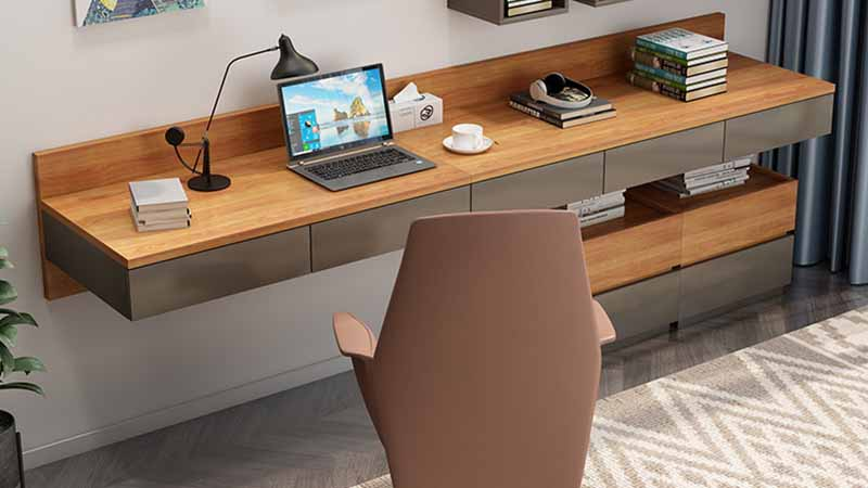 Modern minimalist desk bookcase cabinet integrated writing dressing table Nordic home computer table and chair combination study furniture