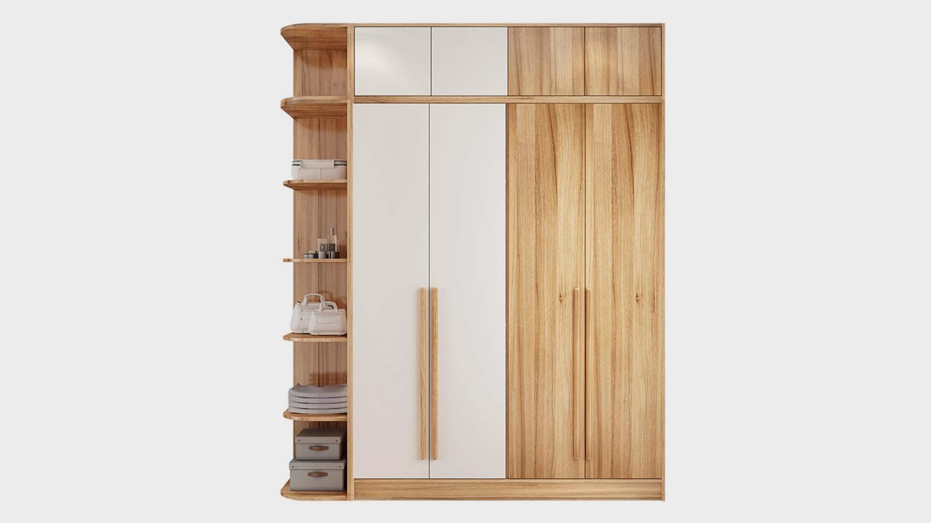 北欧のミニマリストモダンな小さなアパートの寝室の家具の組み合わせ22 3 4ドアのワードローブ全体的に大きなワードローブ