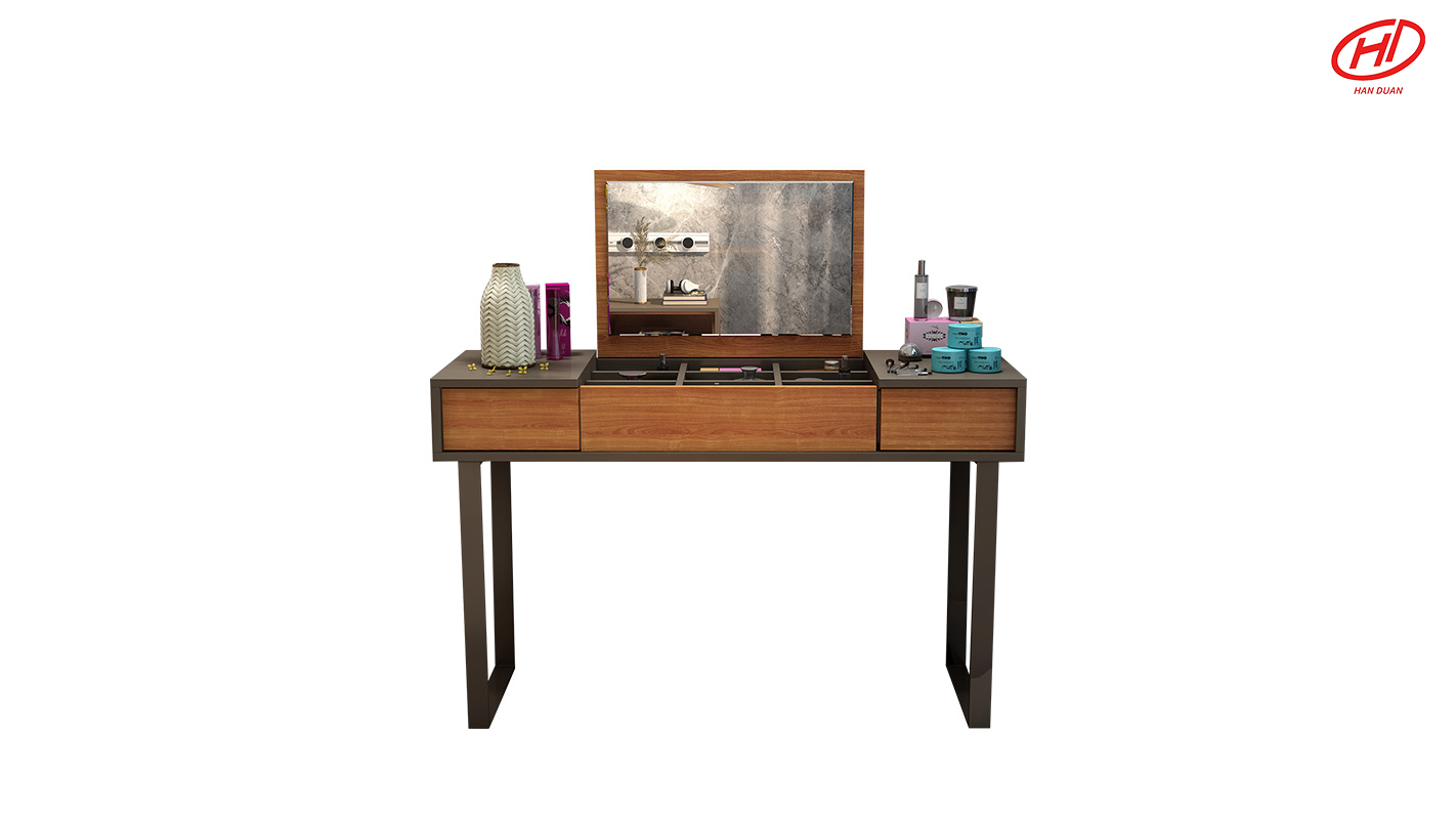 Modern simple clamshell dressing table bedroom multi-functional dressing table small family mini multi-functional writing table makeup table
