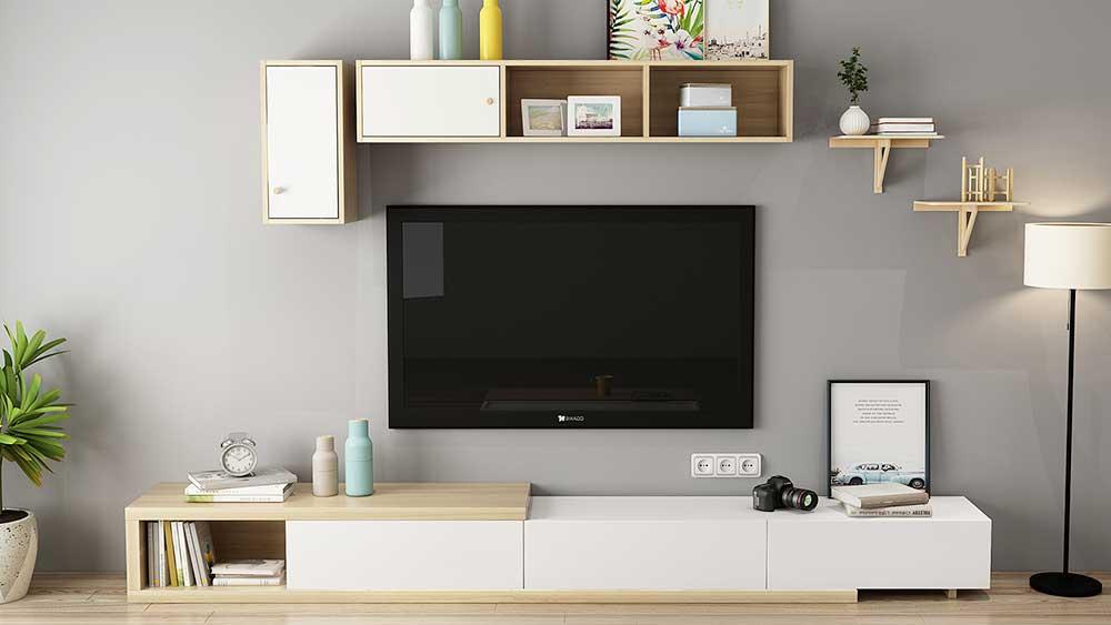 Dřevěné moderní domácí televizní skříně Dřevěné televizní stojany