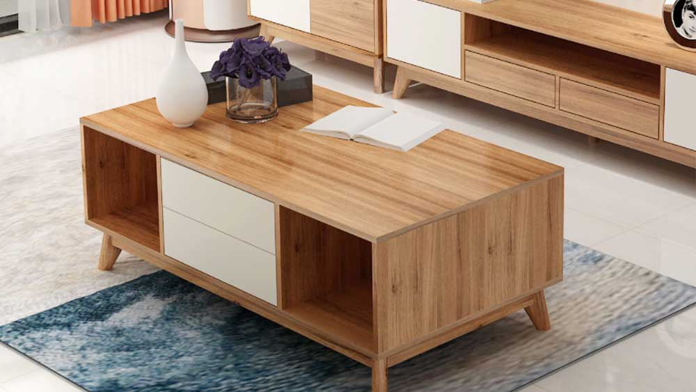多機能ログスタイル高密度ボードティーテーブル