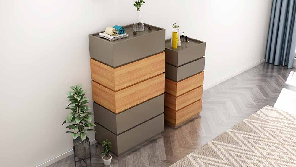 MA01 suite gray chest of drawers