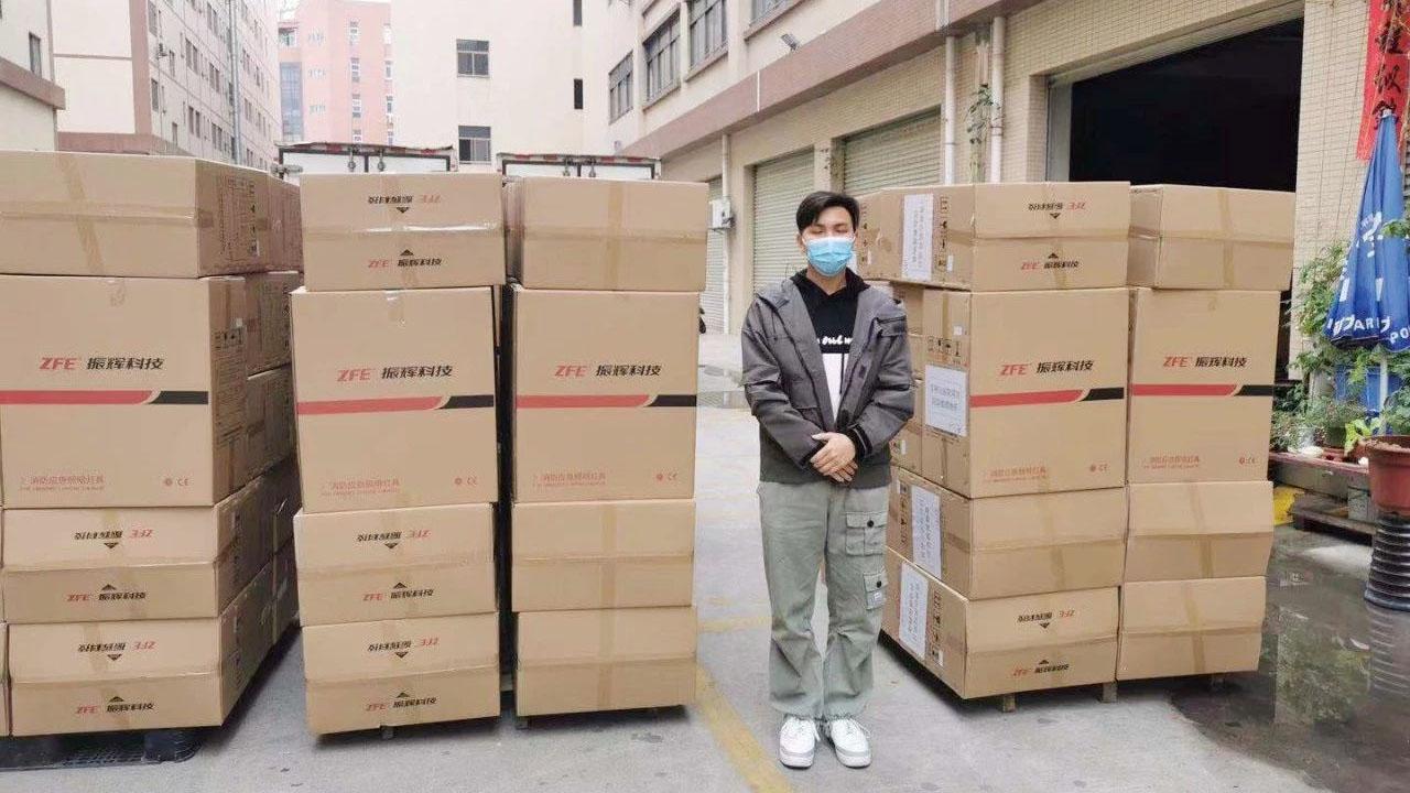Guangdong Zhenhui Technology, 3 Fevralda xüsusi bir avtomobildə Wuhan Leishenshan Xəstəxanasına təcili tavan işıqlarını bağışlayacaq və 4 Fevralda təhvil veriləcək!