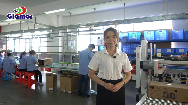 Glamuuri automaatne köisivalgustite tootmisliin