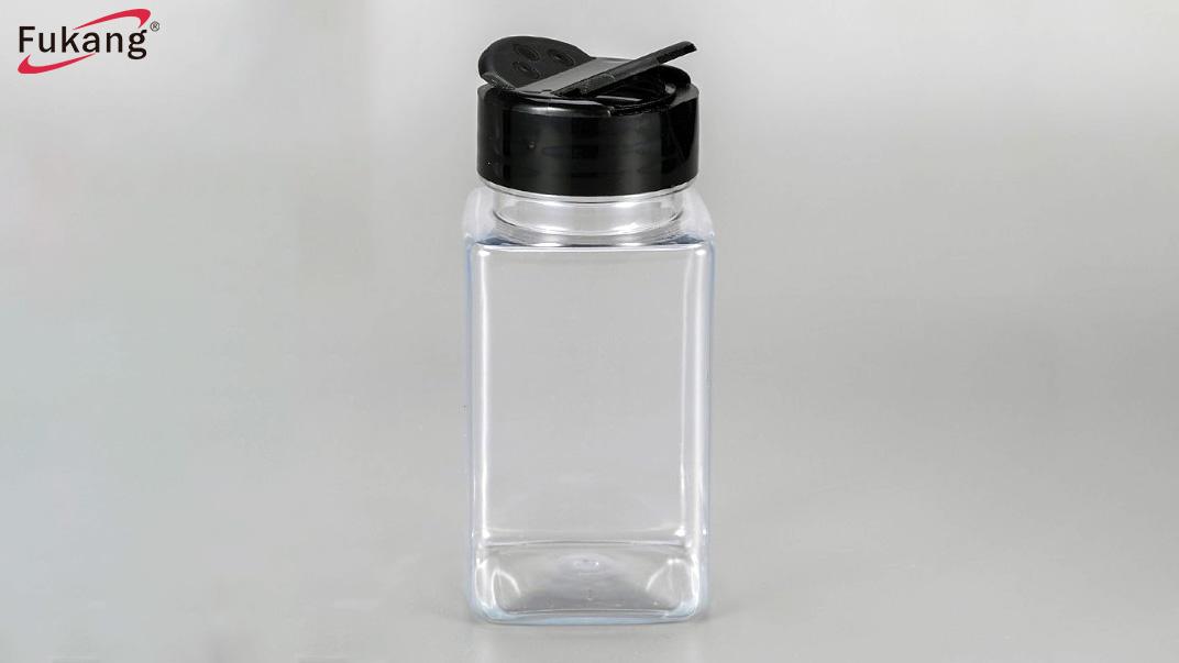 140 ml PET-plestik Spice flesse mei skodderdeksel