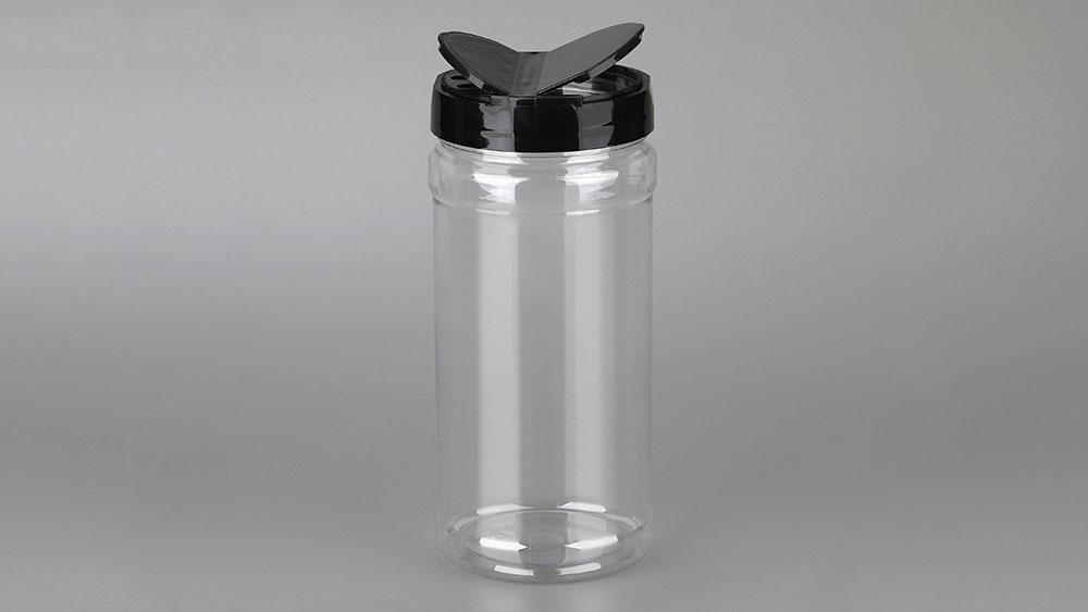 Pot de plàstic rodó de 450 ml per a pebre negre en pols