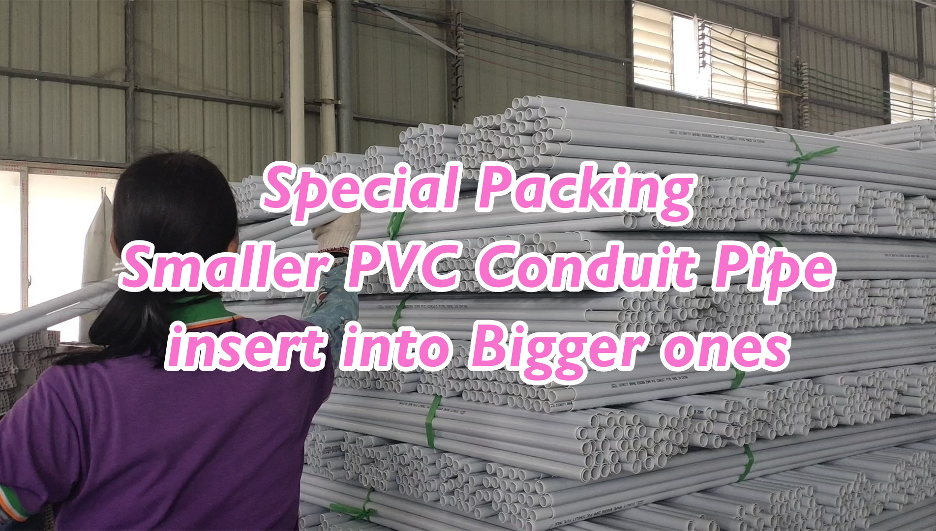 Wholesale Special Packing Smaller PVC Conduit insert into Bigger ones with good price - Shingfong