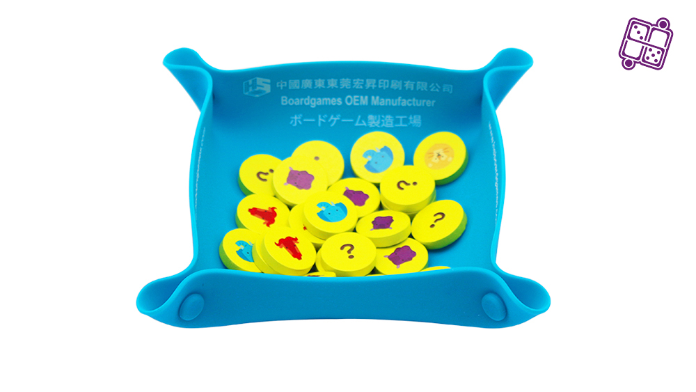 Folding Silicone Board Game Bowls 3mm thick silica gel bowl can be customized pattern