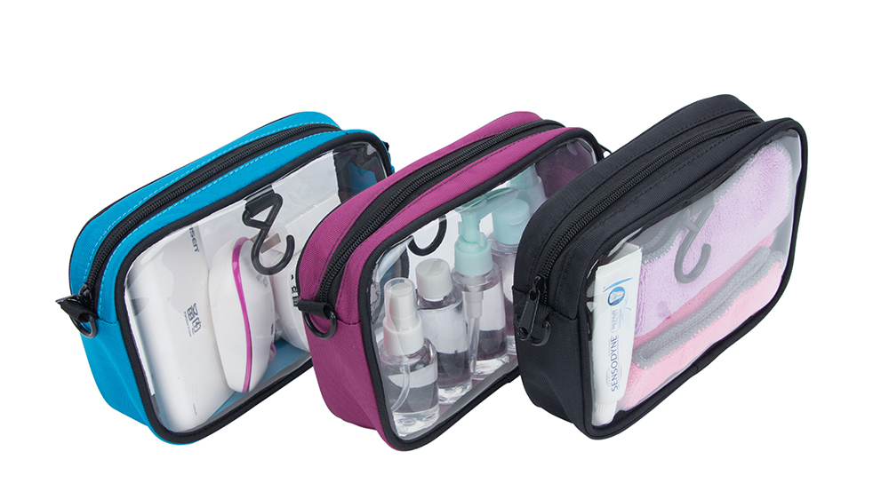 3-Pack TSA Approved Toiletry Bag Clear Travel Bag Airline Compliant Bag Quart Sized Packing Organizer Bag DS81102