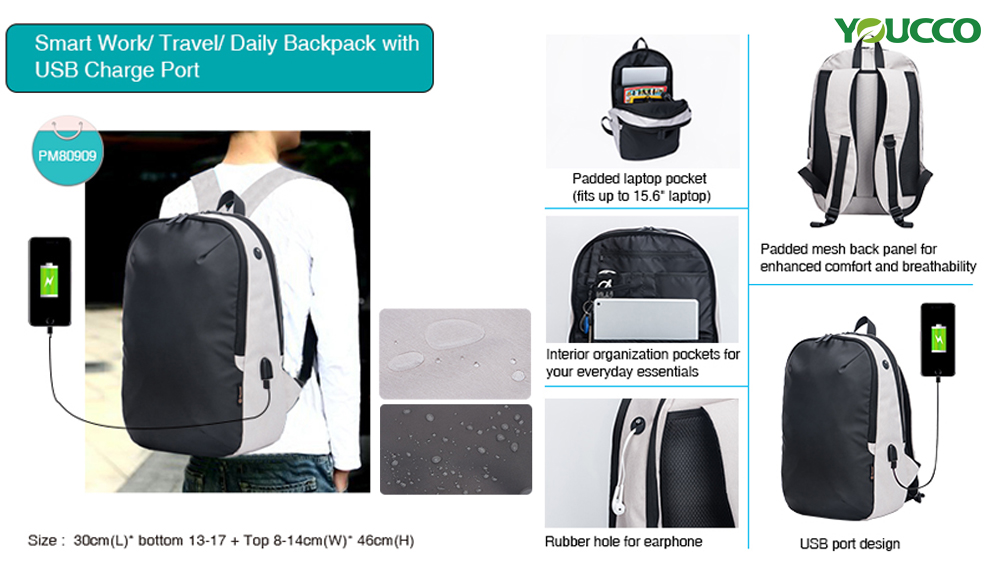 Multifunctional laptop backpack bagPM80909