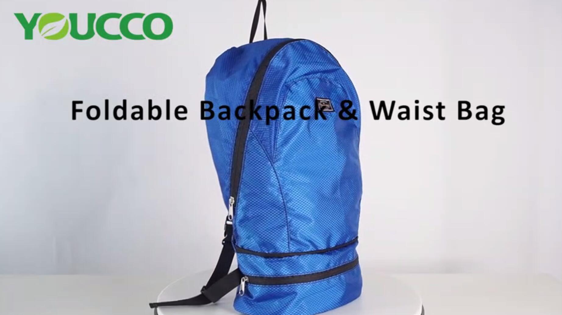 Foldable Backpack & WaistBag