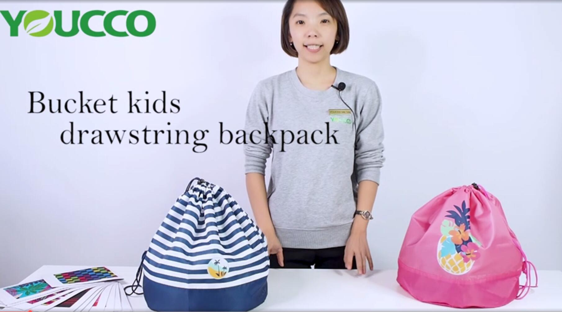 Kids Drawstring Backpack with Round Bottom