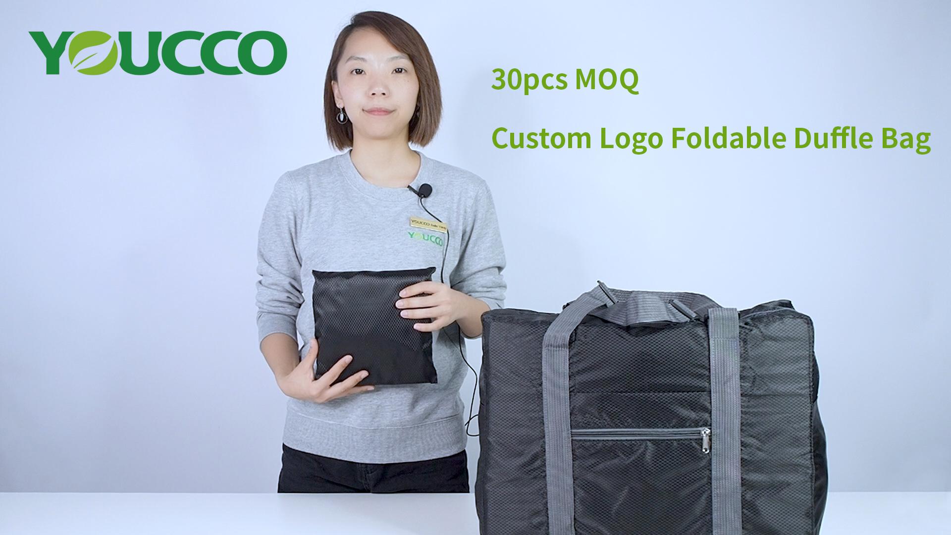 30pcs MOQ Custom Best Roomy and Foldable Travel Duffel Bag 210201