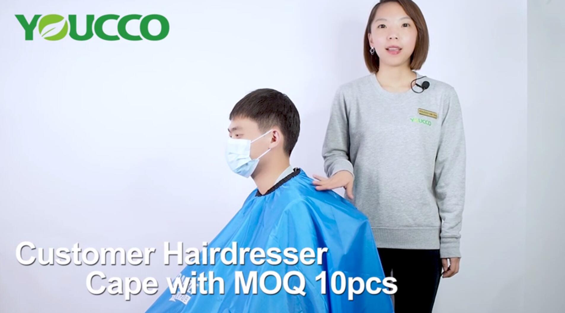 HighQuality Custom Small MOQ Customized Hairdresser Capes 210311 Wholesale MOQ10pcs