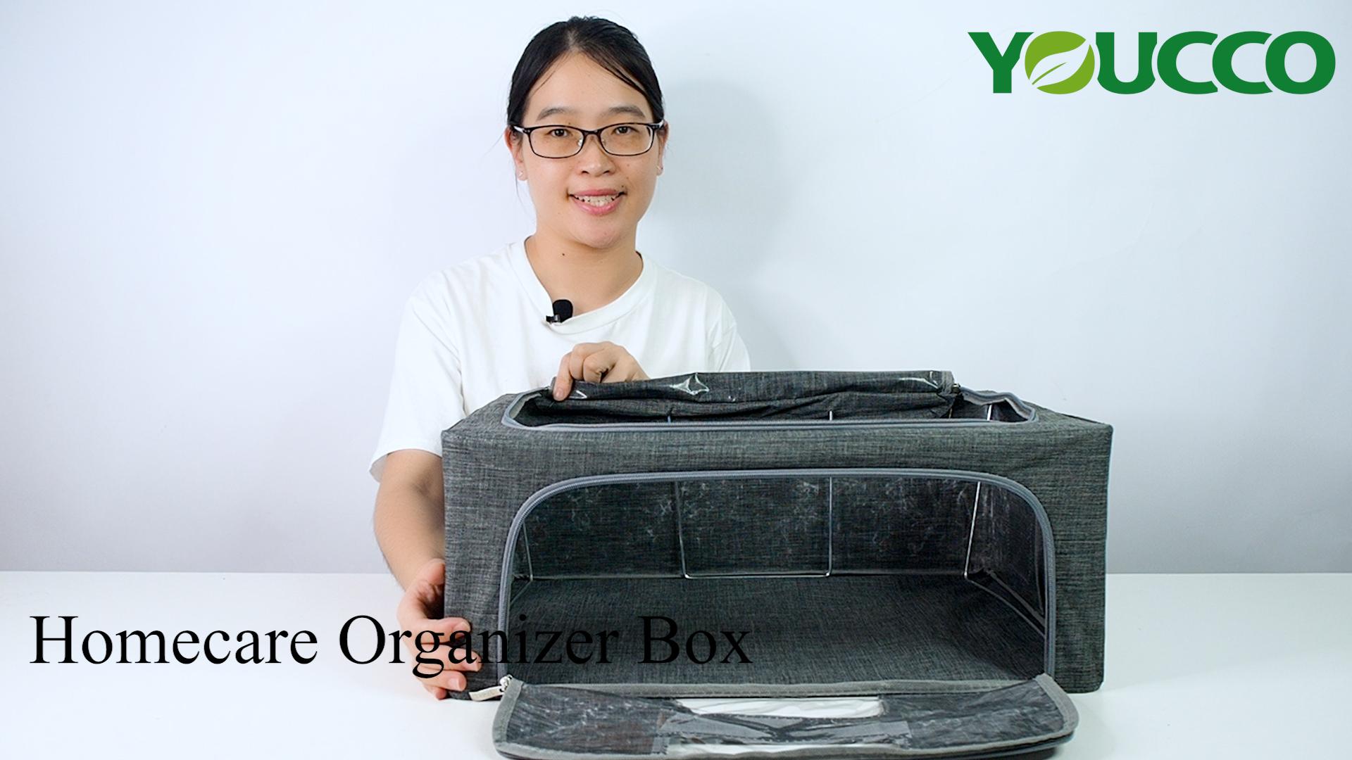 High Quality Small MOQ Foldable Fabric Bin&Box Storage Organizer  Wholesale DS210321