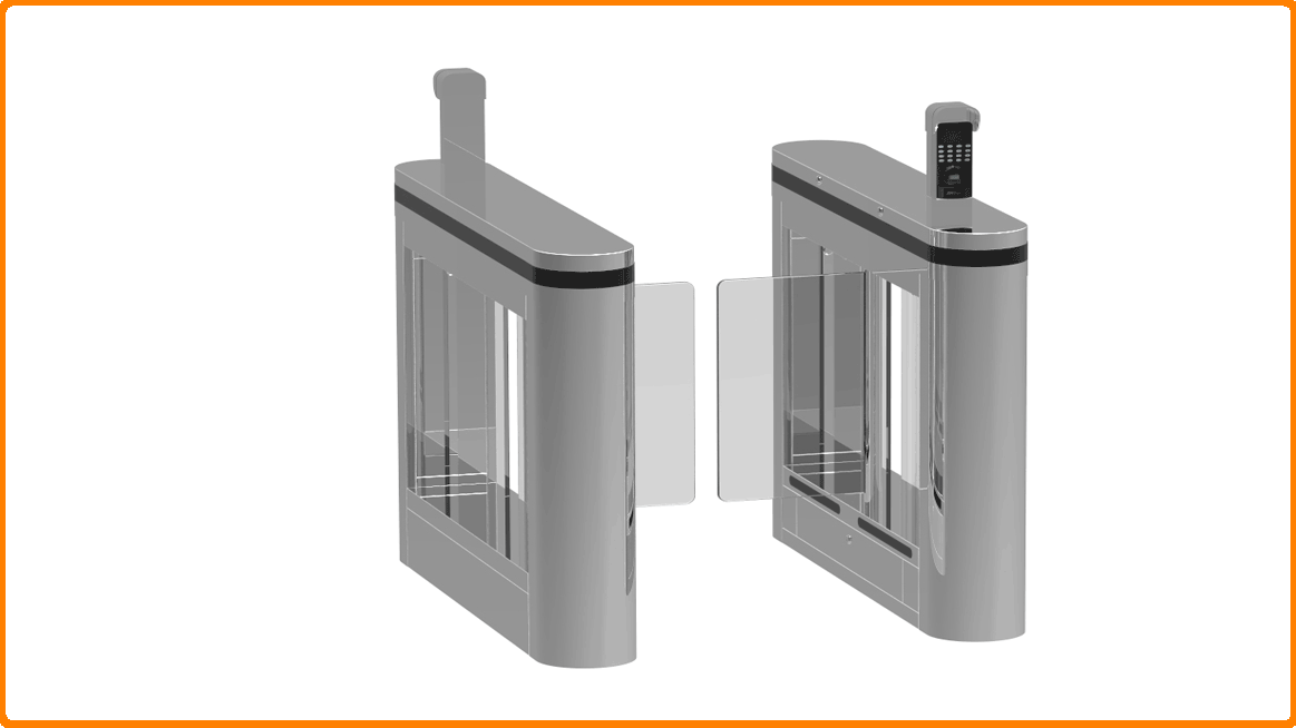 Professional High Speed Turnstile Mechanism with servo motor and high performance polish welding of access control card manufacturers