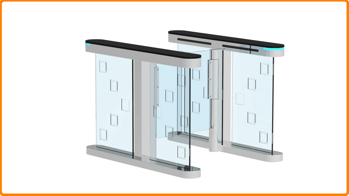 Speed Gate / Fast Lane / Flap Turnstile Barrier for Access Control Turnstile gate