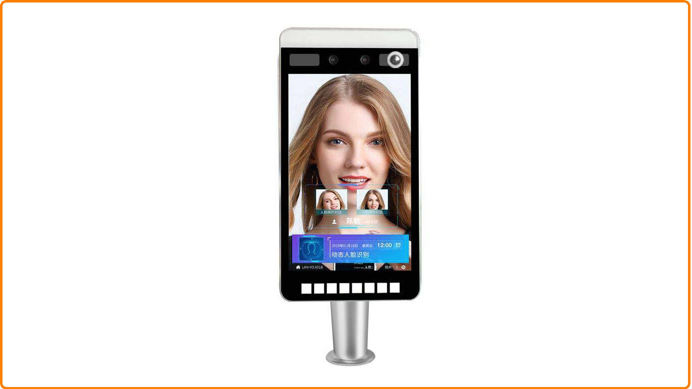 Wholesale High accuracy 8 inch LCD Screen Face Recognition Card Access System Face Recognition Camera System withgoodprice-Shenzhen TigerWong Technology Co., Ltd