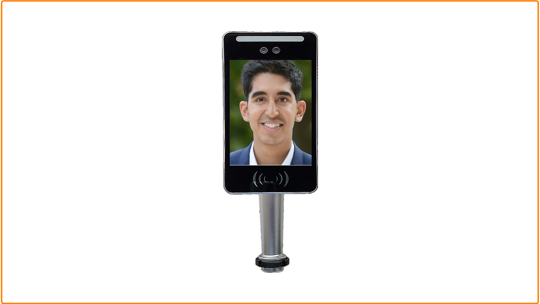 Top quality android portable face recognition camera for time attendance of 7 inch screen