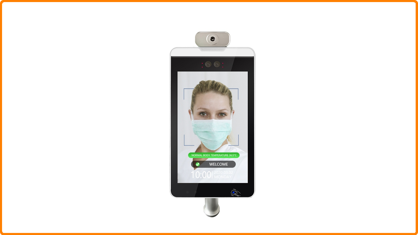 8 inch access control system management outdoor monitor and fever face recognition terminal