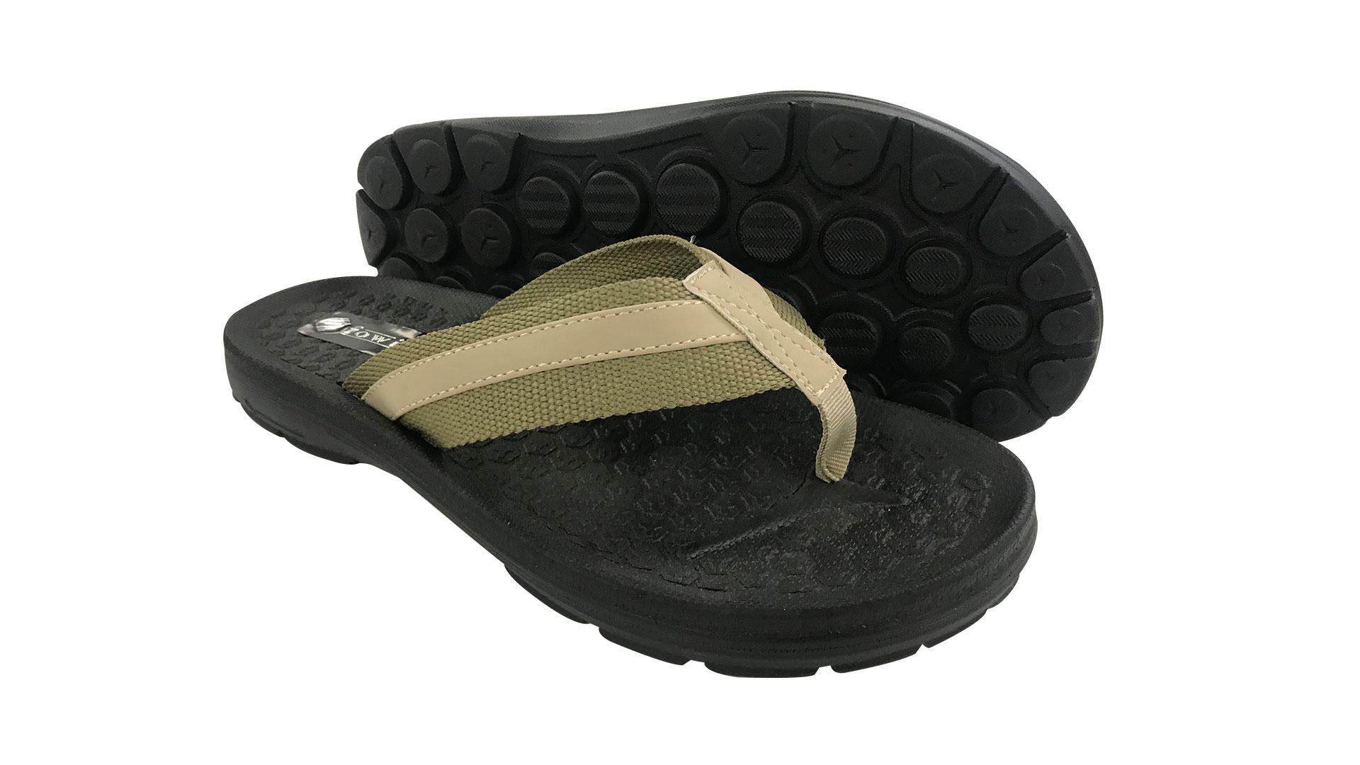 Mens Sport Sandals Summer Black Flip Flops