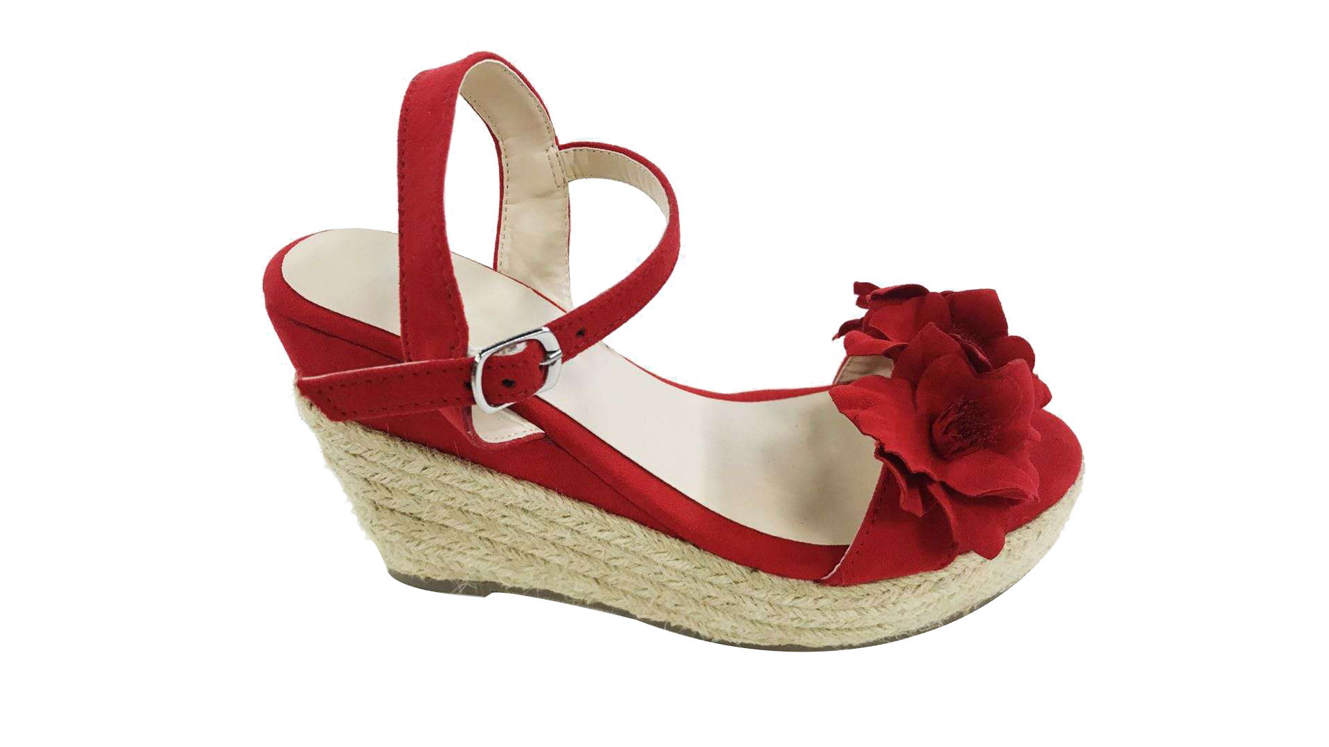 Wholesale Flower Wedge Heel Shoes For Women