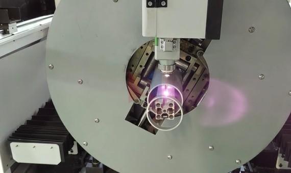 ਗੋਲ ਅਤੇ ਵਰਗ ਪਾਈਪ ਆਪਟੀਕਲ ਫਾਈਬਰ ਕੱਟਣ ਵਾਲੀ ਮਸ਼ੀਨ 3mm ਮੋਟਾਈ 80 ਮਿਲੀਮੀਟਰ ਵਿਆਸ ਦੇ ਅਲਮੀਨੀਅਮ ਲਈ