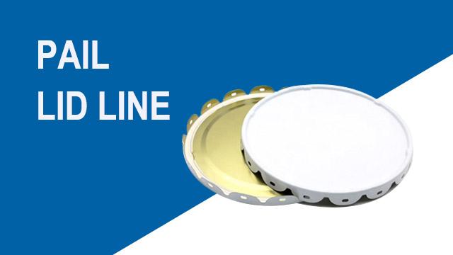 Automatic pail lid production line