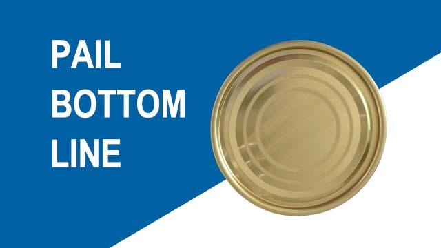 Automatic pail bottom production line