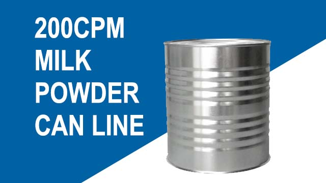 Automatic 200cpm milk powder can production line