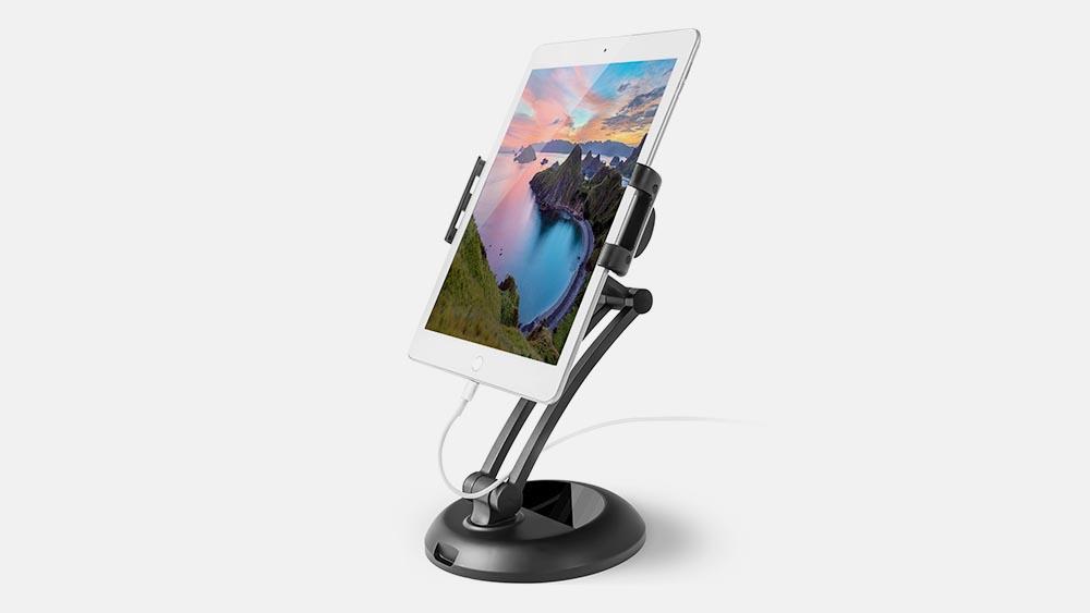 Karšto pardavimo telefoninis stovas su garsiakalbiu FD2
