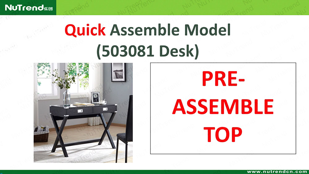 Assembly Instructions of Small Office Desk - Knocked Down (KD) Installation Tips