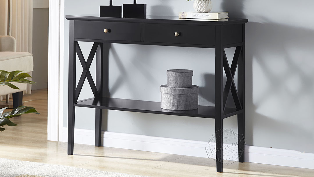 Black Entryway Console Table With Drawers Wholesale