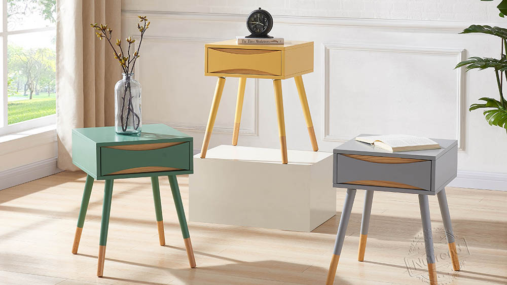Custom Side Tables With Storage With Mid Century Oslo Design