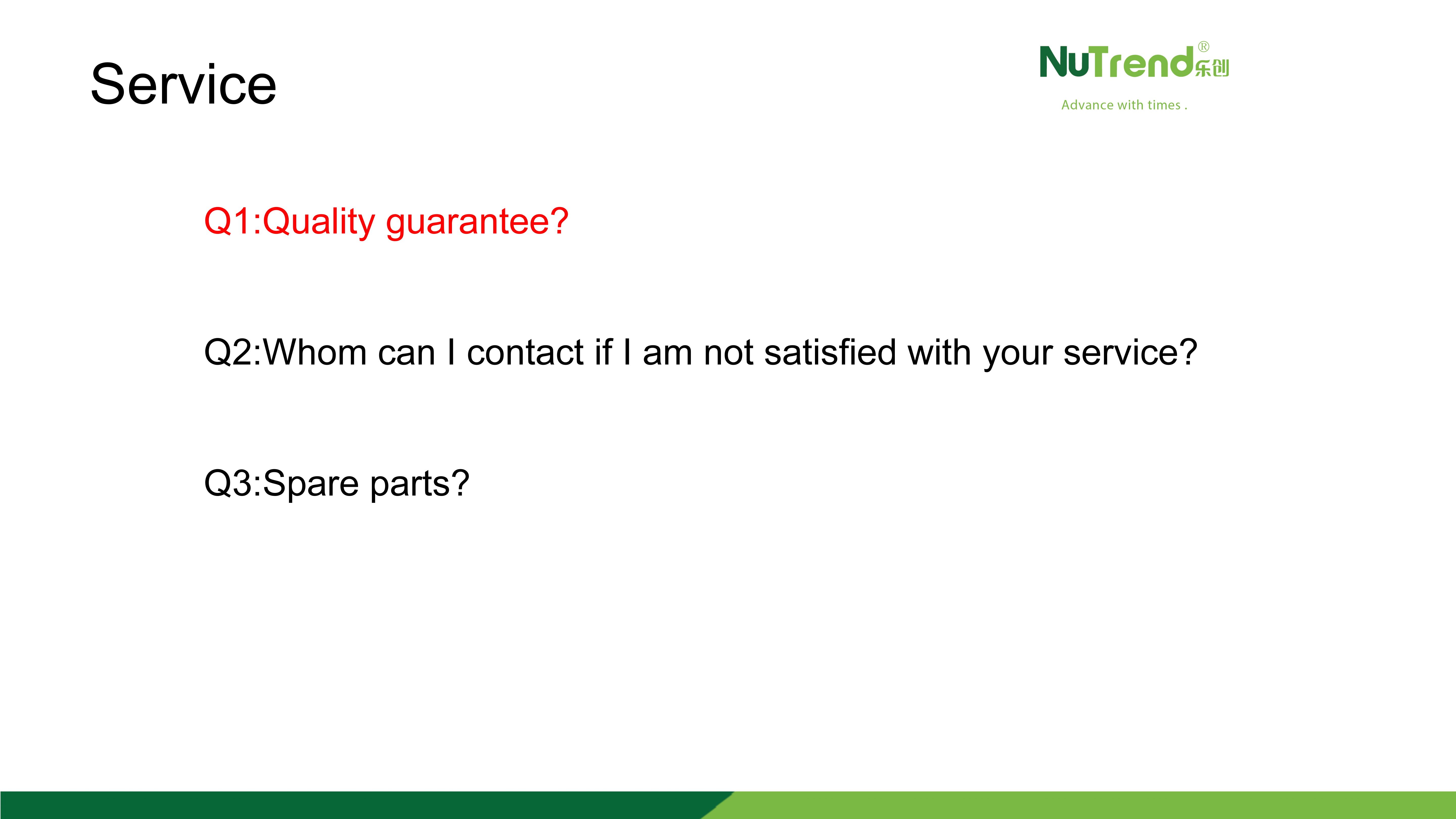 About Customer Service 2