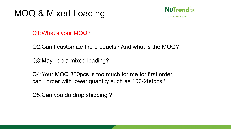 About MOQ