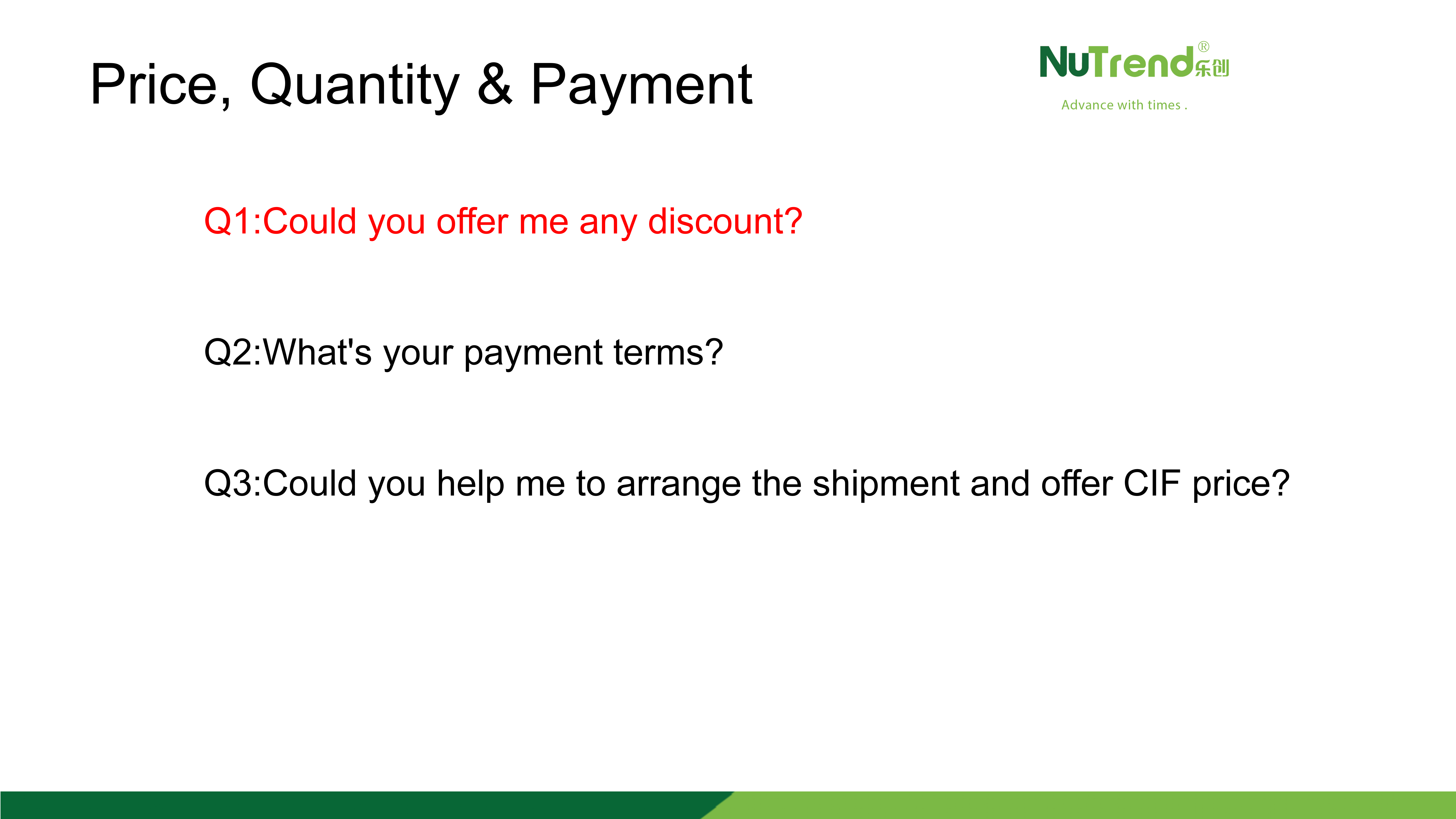 About Payment Terms