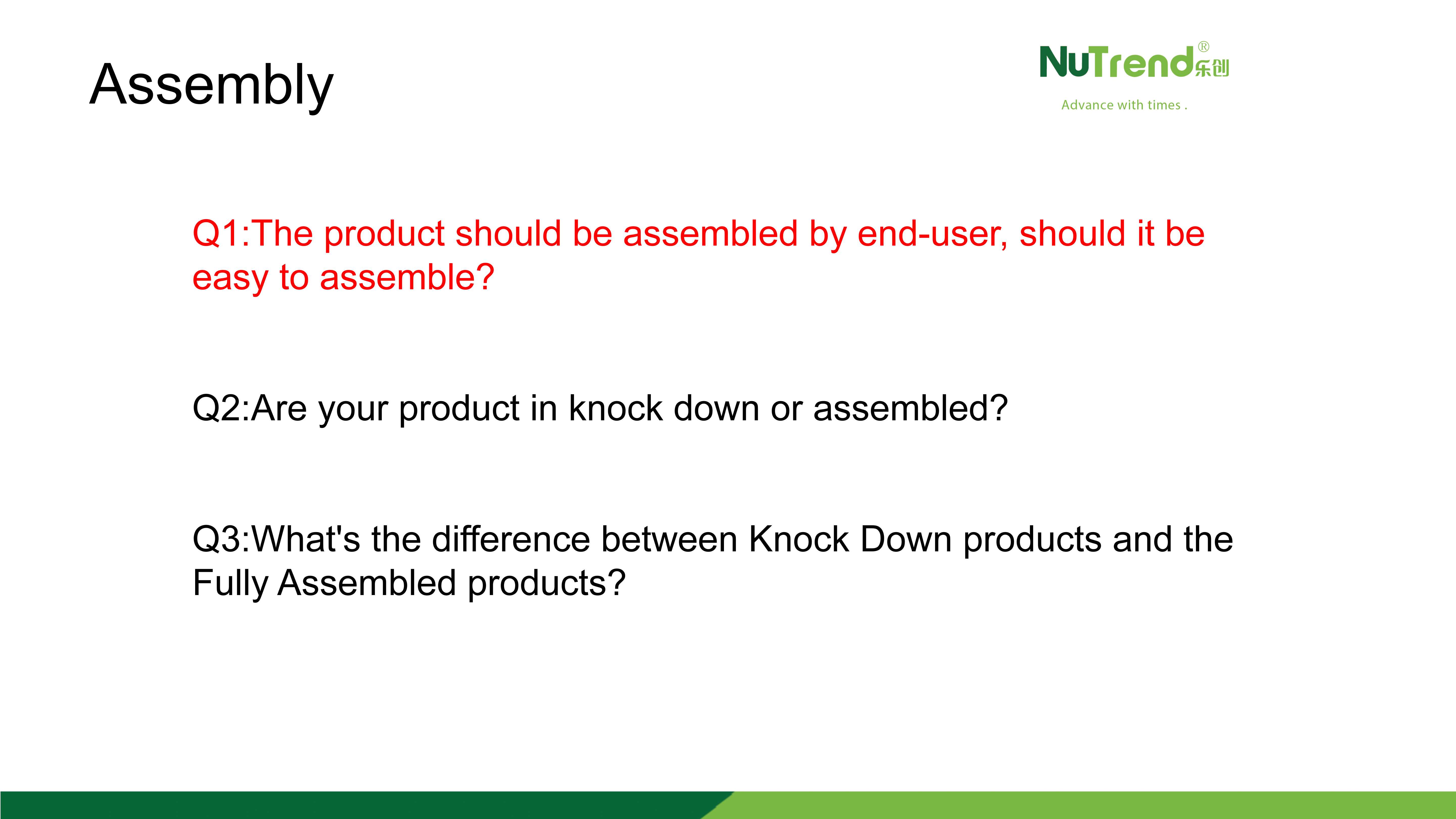 About Product Assembling